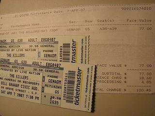 Killer ... er, *Killers* tickets for sale